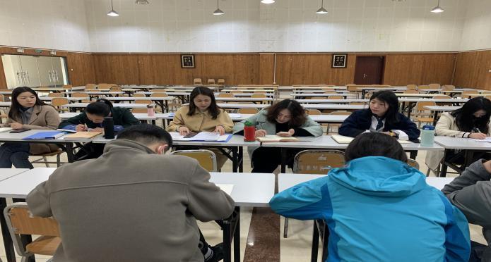 人文教育学院召开2月份组织生活