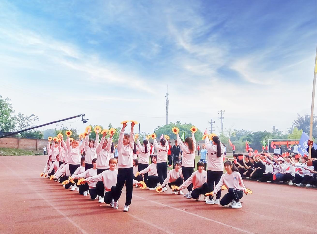 人文教育学院在第九届田径运动会中大放异彩