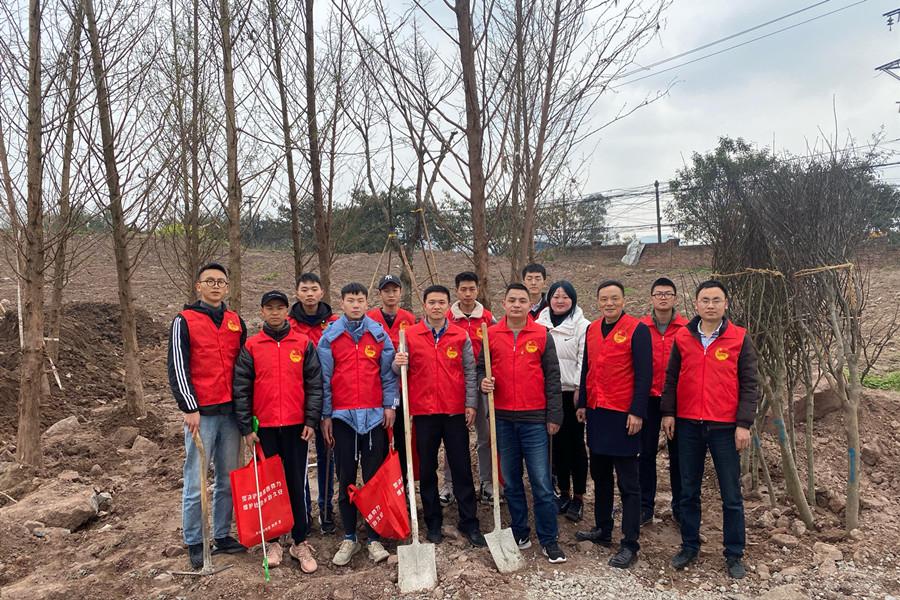 智能制造学院联合高新区新营房村团委共同开展植树节活动